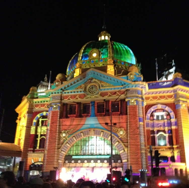 Flinders Street Station turned into a stage!