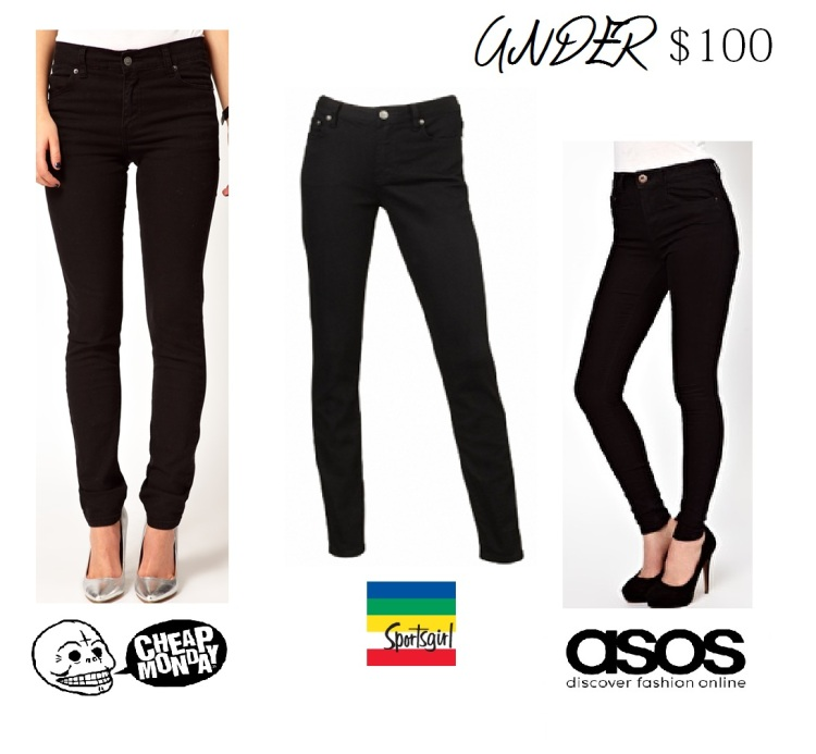 blog post 3 black jean under 100